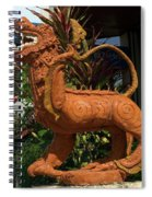 Dragon Statue Spiral Notebook