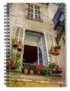 Terra Cotta Pots Outside Window In Old Town Nice, France Spiral Notebook