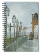 Terrace And Observation Deck At The Moulin De Blute Fin Spiral Notebook