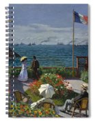 Terrace At Sainte-adresse Spiral Notebook