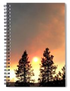 Terrace Mountain Fire 2  Spiral Notebook