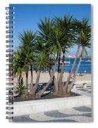 Terrace Promenade At Ribeira Beach In Cascais Spiral Notebook