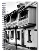 Terraced Houses - Black And White By Kaye Menner Spiral Notebook