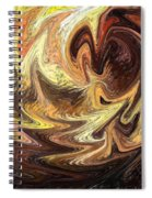 Terrestrial Flames Abstract  Spiral Notebook