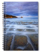 Tesselated Sunset Spiral Notebook