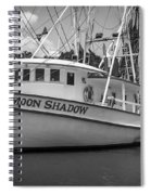 Moon Shadow Working Boat Spiral Notebook