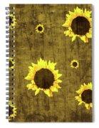 Test Rustic Sunflower Custom Spiral Notebook