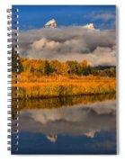 Teton Fall Foliage And Fog Spiral Notebook