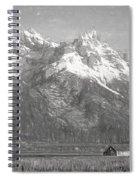 Teton Range Charcoal Sketch Spiral Notebook