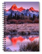 Teton Reflections In The Frosted Willows Spiral Notebook