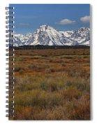 Teton Willow Flats Panorama Spiral Notebook