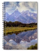 Tetons At The Landing 1 Spiral Notebook