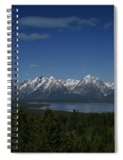 Tetons In Blue Spiral Notebook