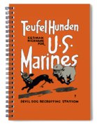 Teufel Hunden - German Nickname For Us Marines Spiral Notebook