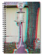 Texaco Gas Pump - Use Red-cyan 3d Glasses Spiral Notebook