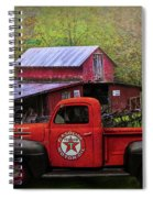 Texaco Truck On A Smoky Mountain Farm In Colorful Textures  Spiral Notebook