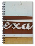 Texan Movie Theater Sign Spiral Notebook