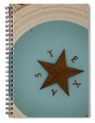 Texas Capitol Dome Lone Star In Austin, Texas, Usa Spiral Notebook