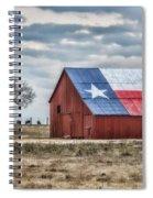 Texas Flag Barn #1 Spiral Notebook