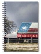 Texas Flag Barn #4 Spiral Notebook