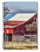 Texas Flag Barn #6 Spiral Notebook