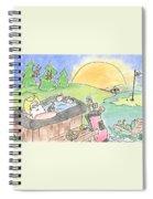 Texas Hot Tub Santa Spiral Notebook