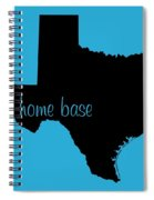 Texas Is Home Base Black Spiral Notebook