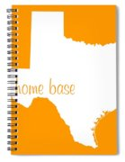 Texas Is Home Base White Spiral Notebook