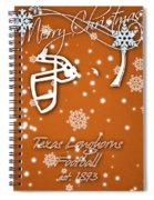 Texas Longhorns Christmas Card Spiral Notebook