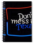 Texas Neon Sign Spiral Notebook