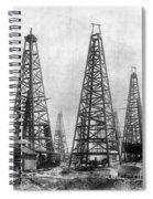 Texas: Oil Derricks, C1901 Spiral Notebook