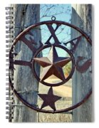 Texas Star Rustic Iron Sign Spiral Notebook