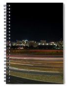 Texas University Tower And Downtown Austin Skyline From Ih35 Spiral Notebook