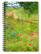 Texas Wildflowers And Cactus - Country Road Spiral Notebook