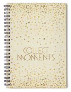 Text Art Collect Moments - Glittering Gold Spiral Notebook