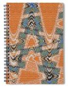 Textured Abstract # 2060ew4dt Spiral Notebook