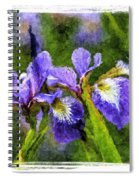 Textured Bearded Irises Spiral Notebook