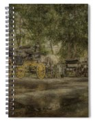 Textured Carriages Spiral Notebook