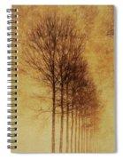 Textured Eerie Trees Spiral Notebook