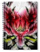 Textured Lily Spiral Notebook