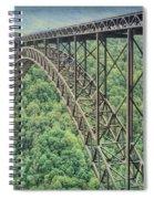 Textured New River Gorge Bridge Spiral Notebook