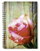 Textured Pink Red Rose Spiral Notebook