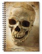 Textured Skull Spiral Notebook