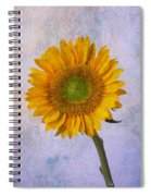 Textured Sunflower Spiral Notebook