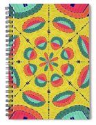 Textured Tropical Mandala Spiral Notebook