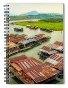 Thai Floating Village Spiral Notebook