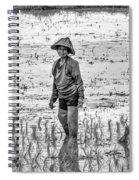 Thailand Rice Planter Spiral Notebook