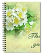 Thank You Card - Multiflora Roses Spiral Notebook