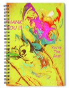 Thank You Card Abstract Lilac Breasted Roller Spiral Notebook