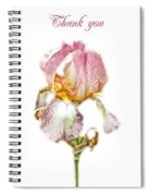 Thank You Greeting Items - Bearded Iris Spiral Notebook